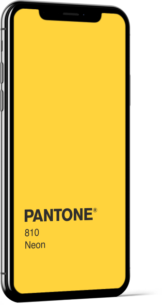 PANTONE 810 Neon Plain Wallpaper