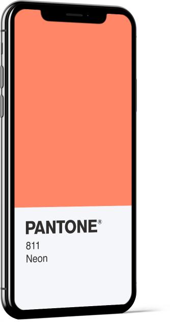 PANTONE 811 Neon Card Wallpaper