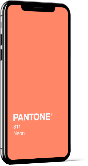 PANTONE 811 Neon Plain Wallpaper