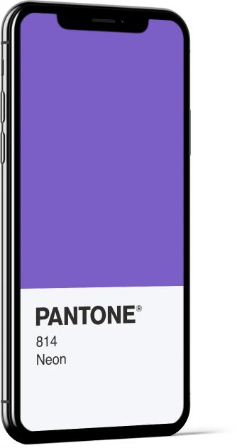PANTONE 814 Neon Card Wallpaper