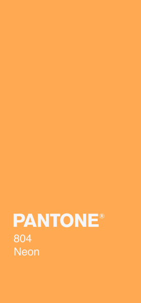 PANTONE 804 Neon Plain Wallpaper