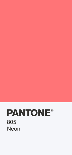 PANTONE 805 Neon Card Wallpaper