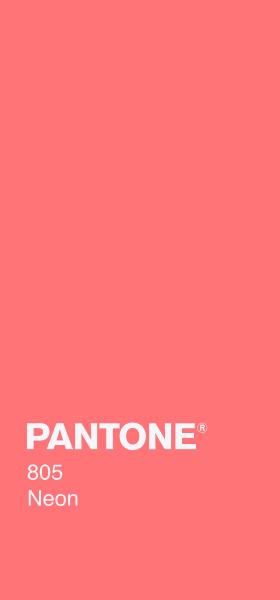PANTONE 805 Neon Plain Wallpaper