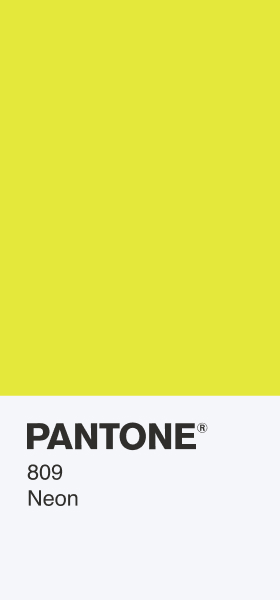 PANTONE 809 Neon Card Wallpaper