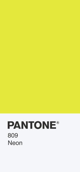 PANTONE 809 Neon Card Wallpaper