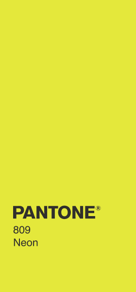 PANTONE 809 Neon Plain Wallpaper