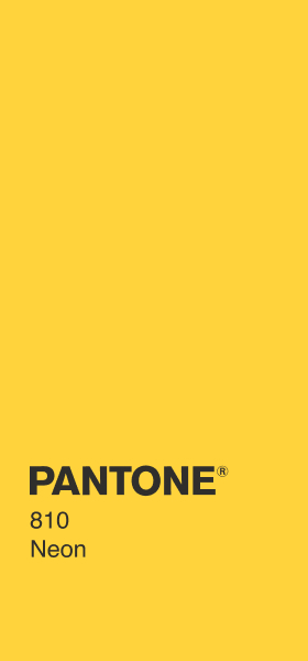 PANTONE 810 Neon Plain Wallpaper