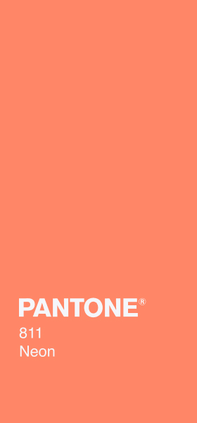 PANTONE 811 Neon Plain Wallpaper