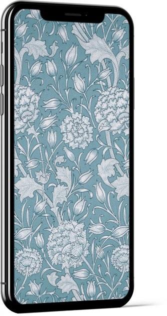 Wild Tulip Blue William Morris Wallpaper
