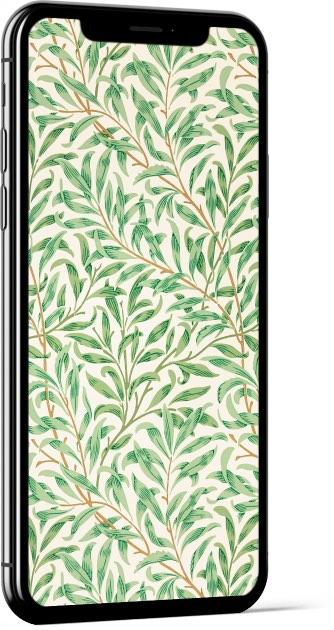 Willow Bough Green William Morris Wallpaper