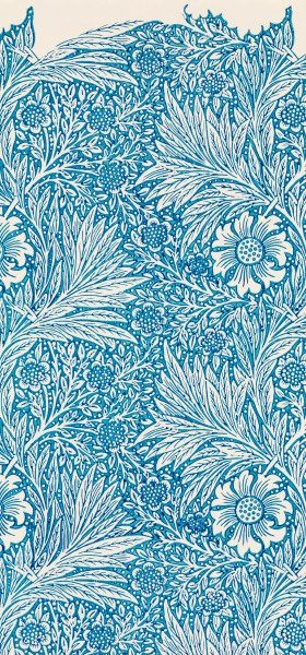 Blue Marigold William Morris Wallpaper