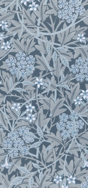 Jasmine Blue by William Morris Wallpaper