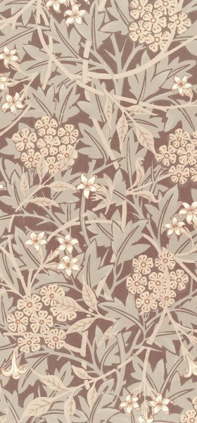 Jasmine Brown by William Morris Wallpaper