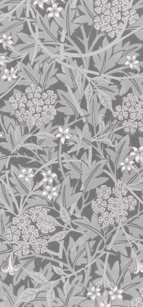 Jasmine Gray by William Morris Wallpaper