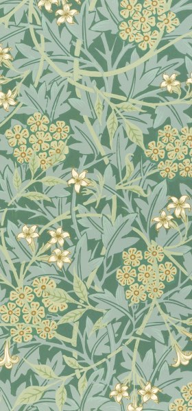 Jasmine Green by William Morris Wallpaper