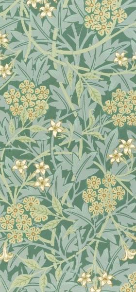 Jasmine Green by William Morris Wallpaper
