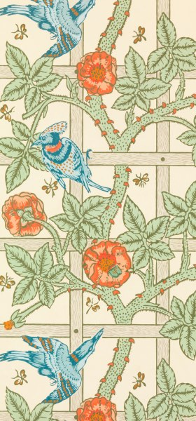 Trellis William Morris Wallpaper
