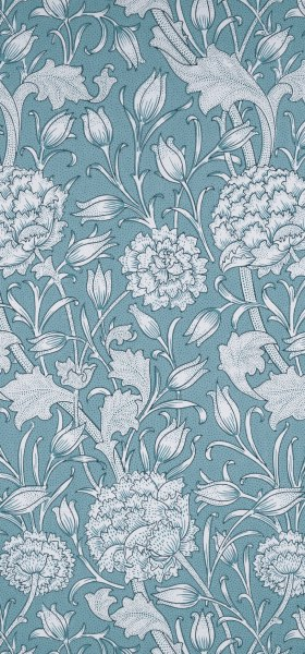 Wild Tulip Blue William Morris Wallpaper