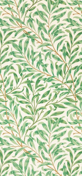 Willow Bough Green William Morris Wallpaper