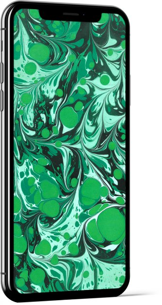 Paper Marbling Texture in Green and Black Wallpaper