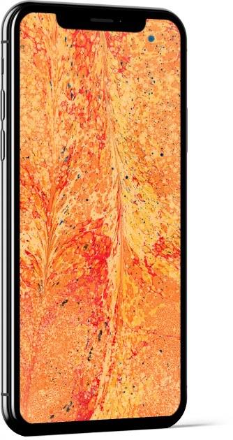 Paper Marbling Texture in Orange Wallpaper