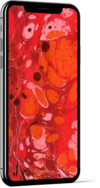 Paper Marbling Texture in Red Wallpaper