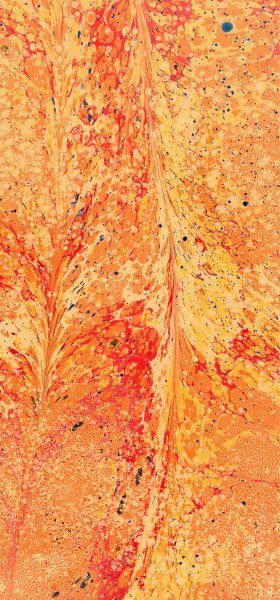 Paper Marbling Texture in Orange Wallpaper