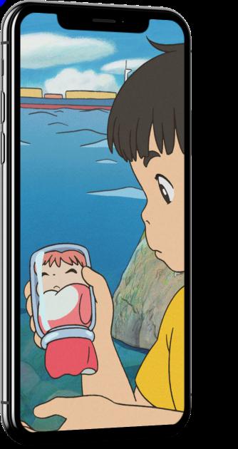 Ponyo in a Glass Jar Wallpaper