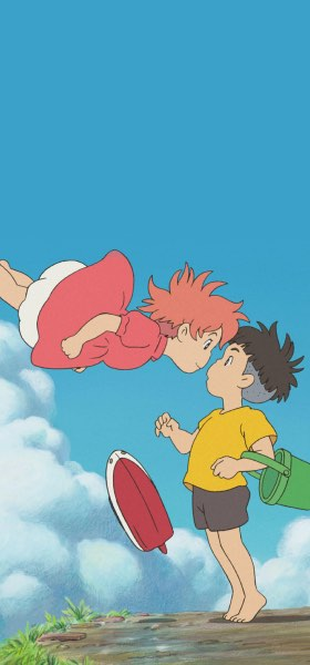 Ponyo and Sosuke Wallpaper