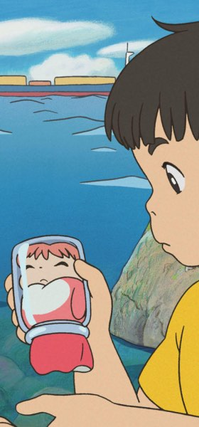Ponyo in a Glass Jar Wallpaper