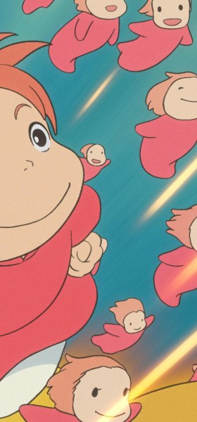 Ponyo Flying Wallpaper