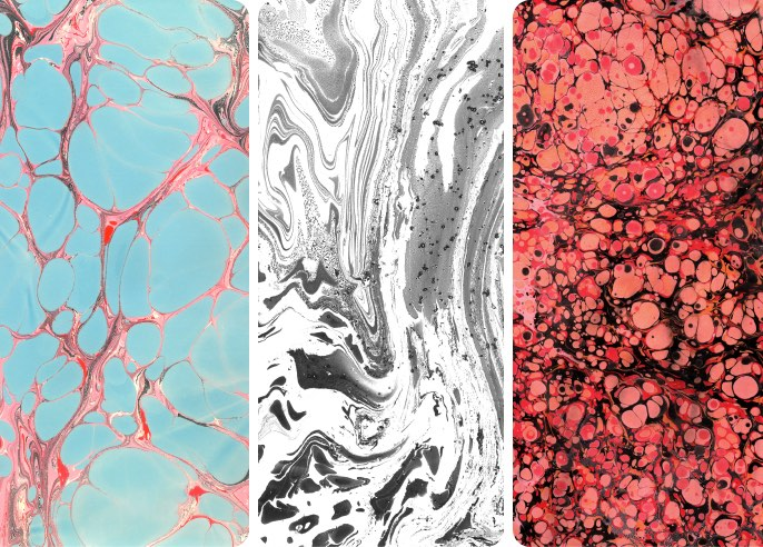 Paper Marbling Textures Wallpaper Collection
