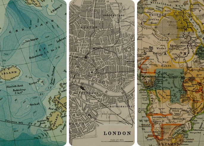 Vintage Maps Wallpaper Collection