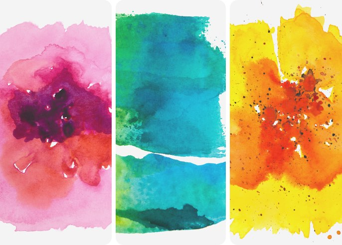 Watercolor Textures Wallpaper Collection
