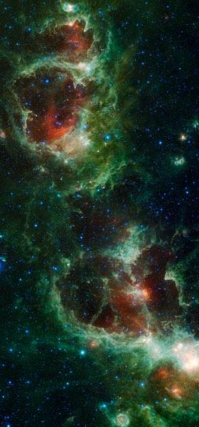 Heart and Soul nebulae Wallpaper