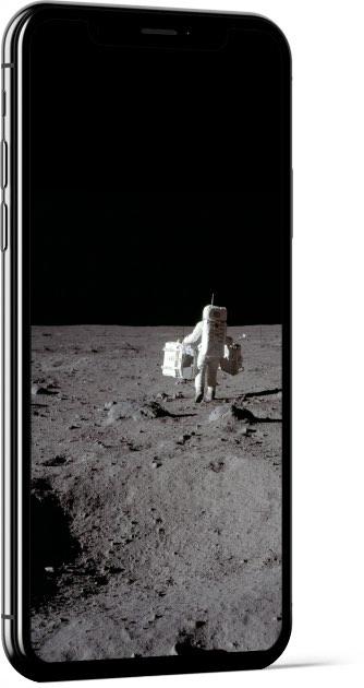 Buzz Aldrin walking on the Moon Wallpaper