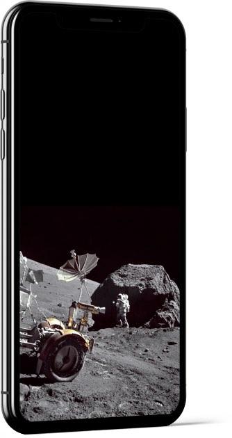 Harrison Schmitt on the Moon Wallpaper