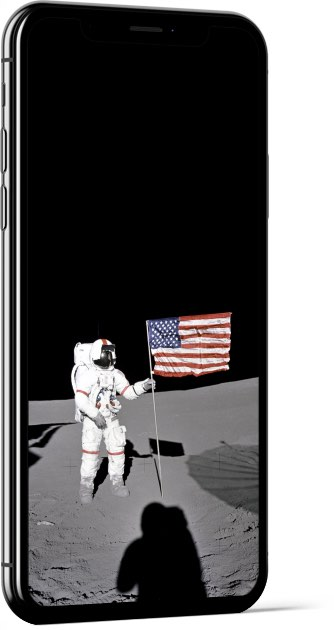Alan Shepard planting the flag Wallpaper