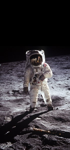 Buzz Aldrin on the Moon Wallpaper