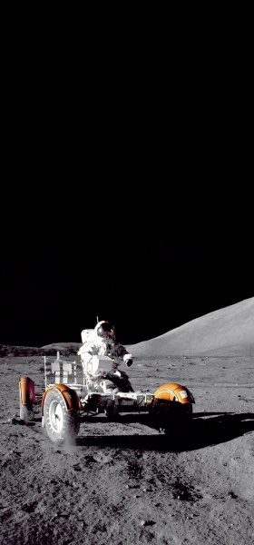 Eugene Cernan driving on the Moon Wallpaper