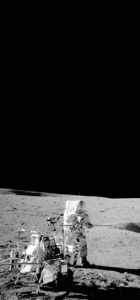 Alan Shepard on the Moon Wallpaper