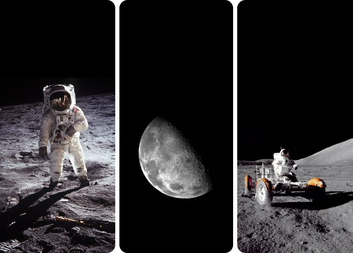 Men on the Moon - Wallpaper Collection