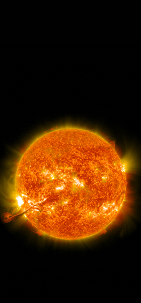 Erupting Sun Wallpaper
